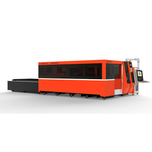 MK4020F-Totally enclosed Metal Fiber Laser Cutting Machine With Interexchange table